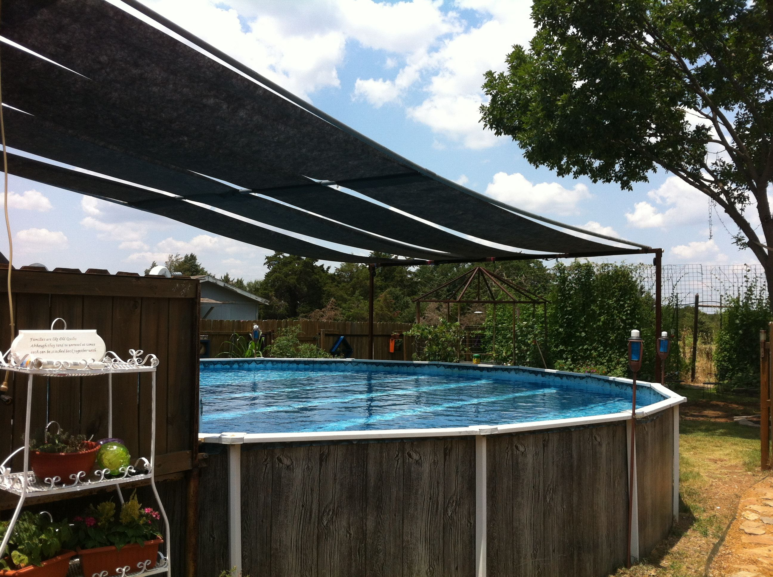 Above Ground Pool Shade Pool Shade Backyard Pool Above Ground Pool