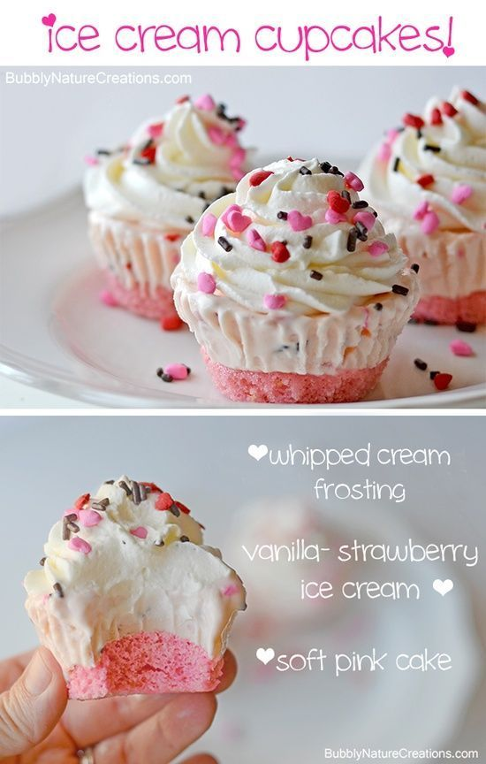 Cupcakes Ice Cream Cupcakes ~ Make these for a party and you wont have to scoop ice cream or cut cake when it comes time to serve!Ice Cream Cupcakes ~ Make these for a party and you wont have to scoop ice cream or cut cake when it comes time to serve!