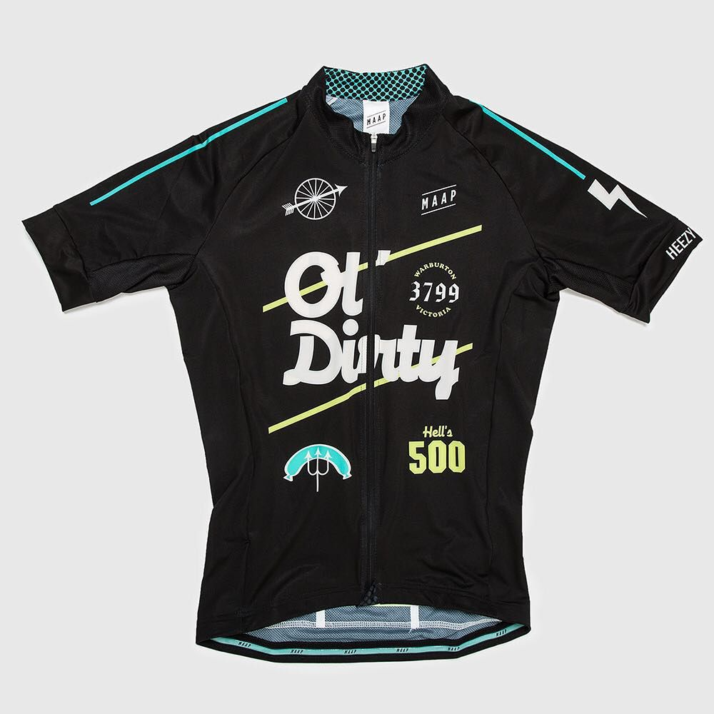 The new Ol  Dirty Jersey - a collaboration with  hells500 is now available  on MAAP.CC  3baea17c6