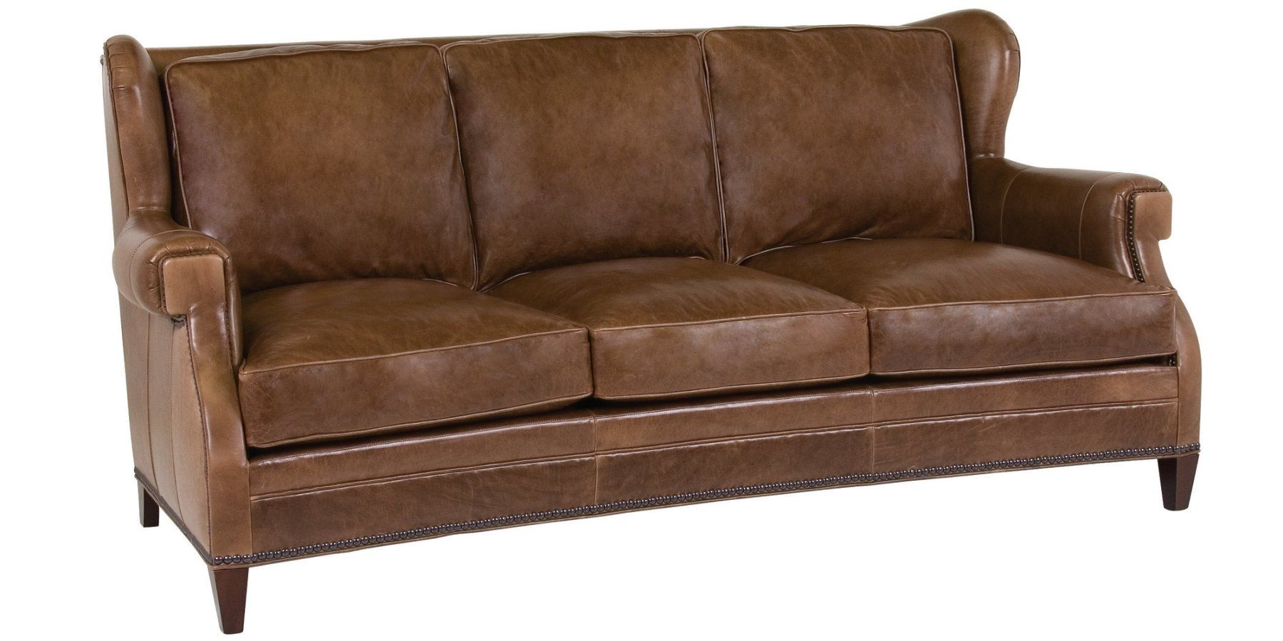 High Back Leather Sofa In 2020 Leather Wingback Wingback Sofa Club Furniture