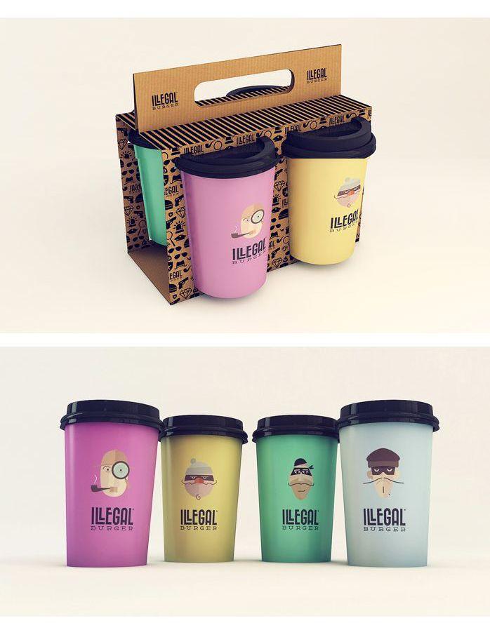 Cool Colors Cup S Embalagens Cafe Copos Descartaveis