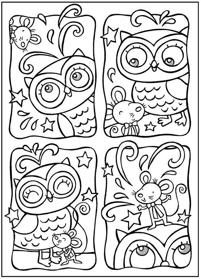 Owls Coloring Book | Scrap Decoración | Pinterest | Lechuzas ...