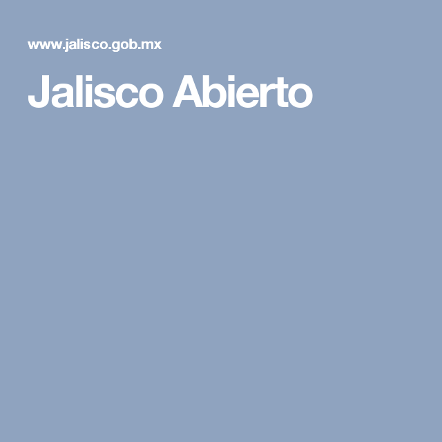 Jalisco Abierto