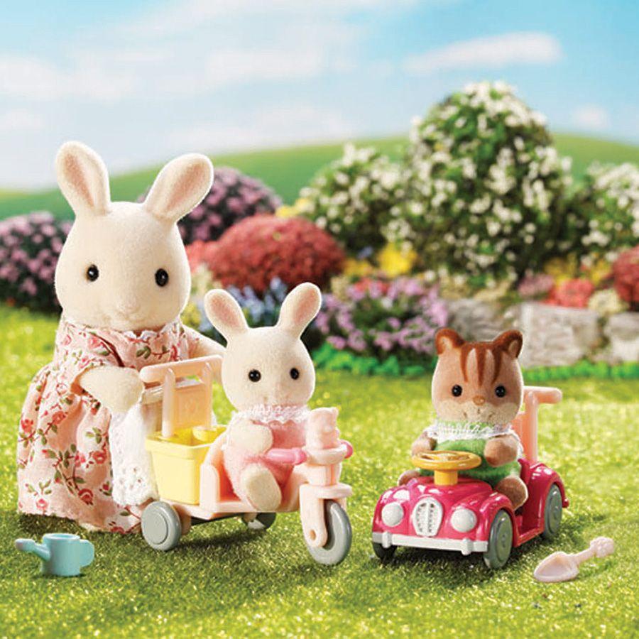 Sylvanian families babies ride and play toysrus australia familias de animalitos mu ecas - Casitas de tela para ninos toysrus ...