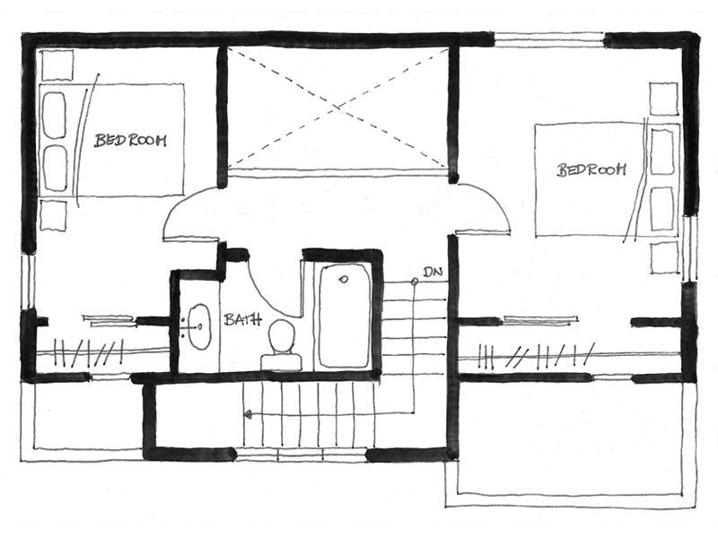 The Arbutus, a laneway house with two bedrooms and two full baths ...