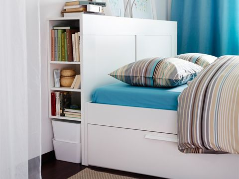 Ikea Brimnes Bed And Headboard With Storage Headboard Storage