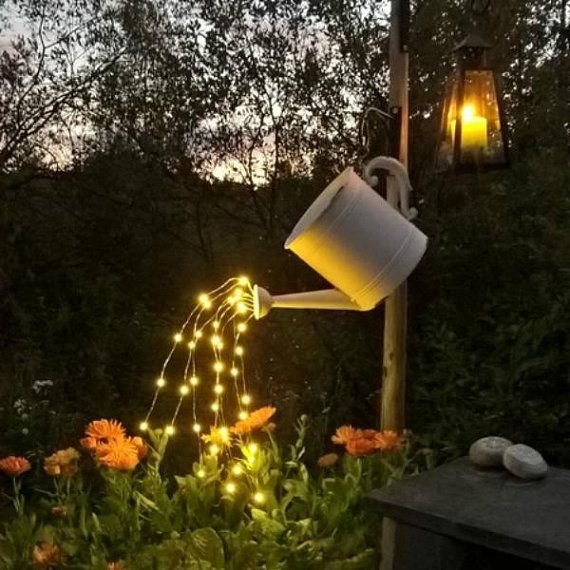 Mother's Day Gift - Waterfall Fairy Lights (Watering Can Lights) - Five 6-Ft Strands, 00 Warm White LEDs. Lights only - Can not included #eyeshaveit