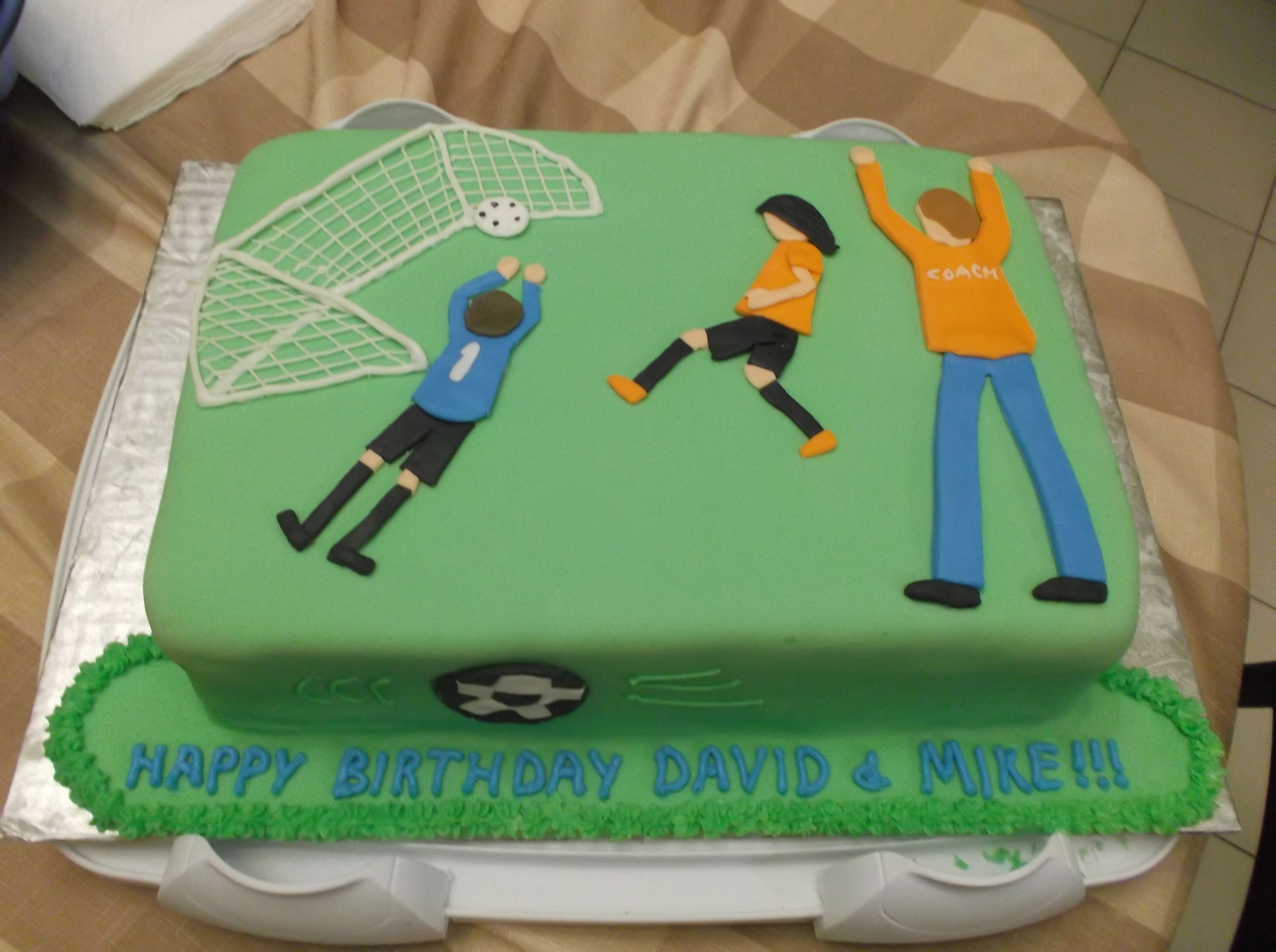 Soccer cake for father & son