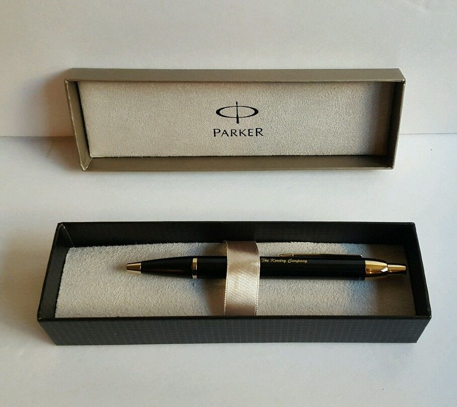 Parker Ballpoint Pen Sterling Silver Gold Kendry Co & Gift Box Collectible  #Parker