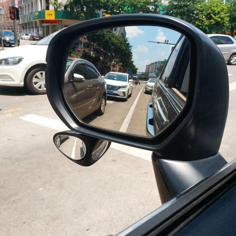 2x Adjustable Side Rear View Auxiliary Blind Spot Mirror For Car Safe Driving