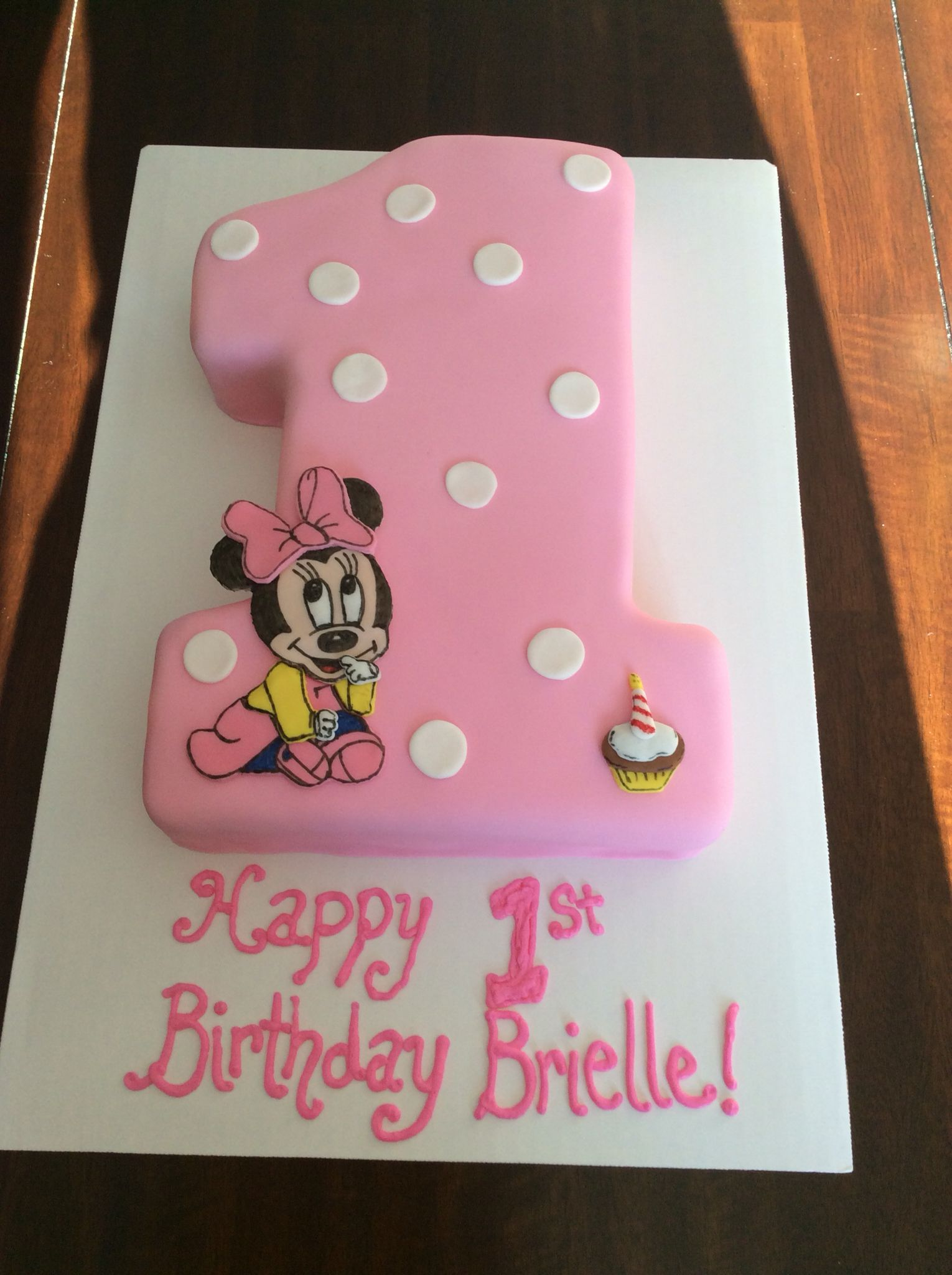 Marvelous Minnie Mouse First Birthday Cake Baby Geburtstag Lustige Birthday Cards Printable Benkemecafe Filternl