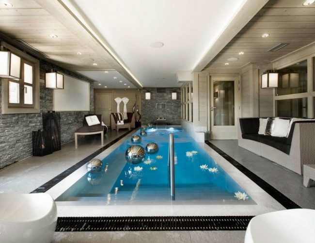 Indoor Pool bauen - 50 traumhafte Schwimmbäder | Sauna/Homespa ...
