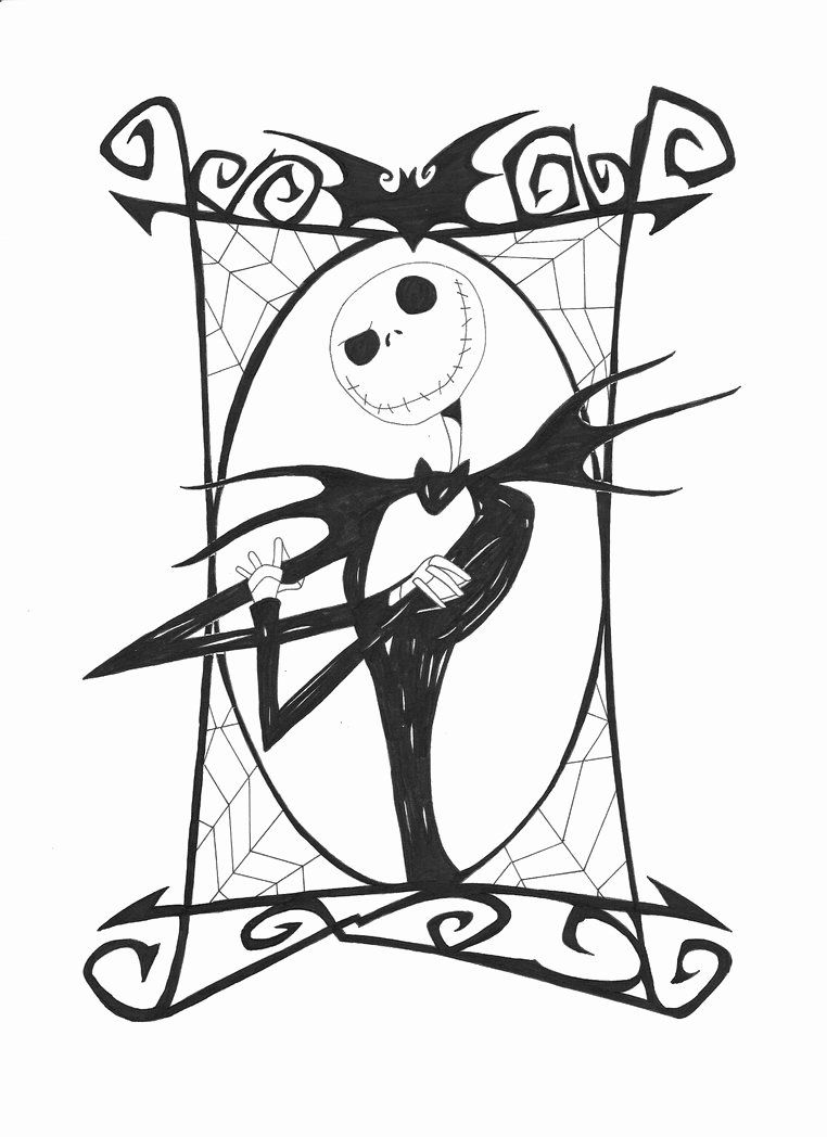 Jack Skellington Coloring Page Awesome Free Printable Nightmare