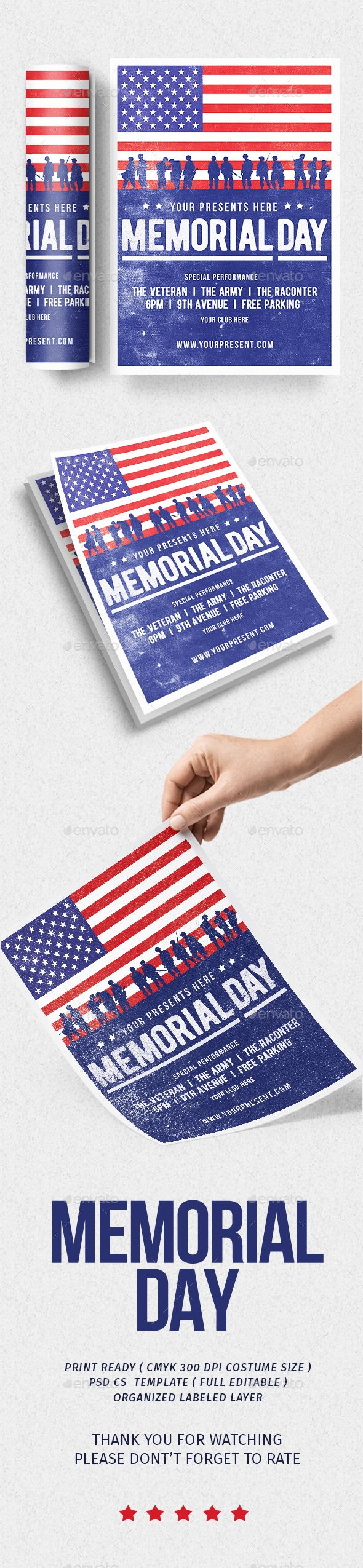 free memorial day flyer template
