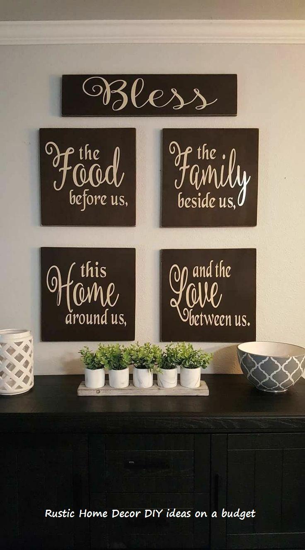 Easy To Do Home Diy Rustic Ideas Homedecor Rustichomedecor Dining Room Wall Decor Room Wall Decor Diy Pallet Wall