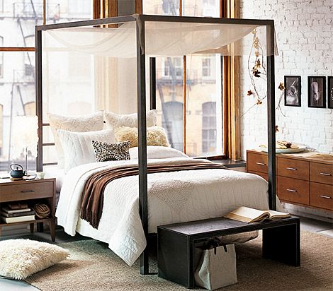 Scavenger: West Elm Queen-Size Canopy Bed for $200