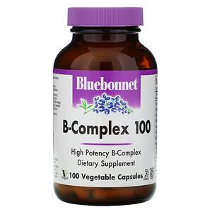 Bluebonnet Nutrition مركب فيتامين ب 100 100 كبسولة نباتية ビタミン プロバイオティクス 健康補助食品