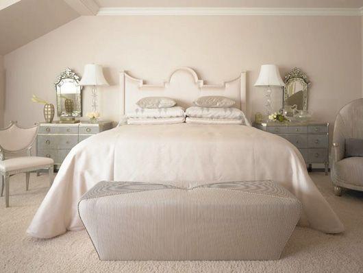 Elegant white and grey bedroom