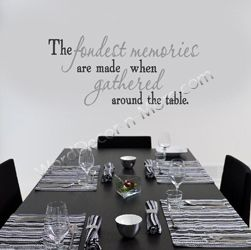 The Fondest Memories Inspirational Dining Room Wall Words