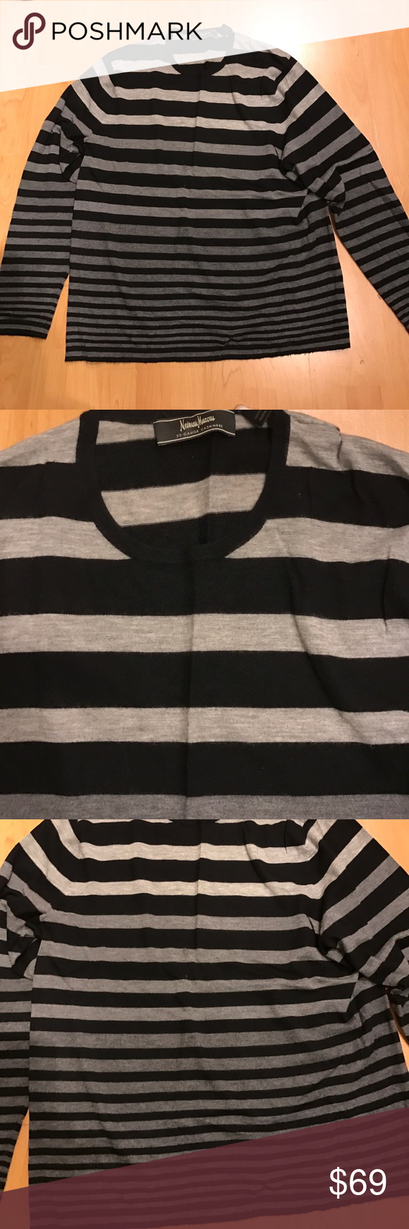 Neiman Marcus Men's striped cashmere sweater | Neiman marcus ...