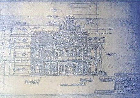 Would it be weird to have this in my home framed the blueprints wonderful 11 x 17 blueprint of the disneyland haunted mansion elevation made the old fashioned way with ammonia activated paper on a diazit malvernweather Gallery