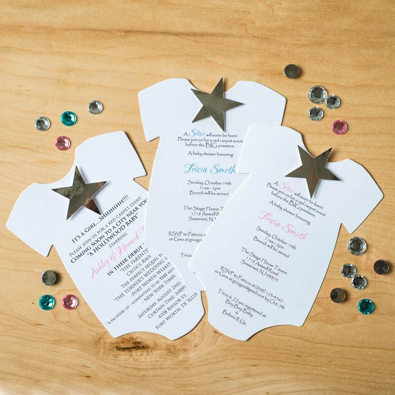 A Star is Born Hollywood Baby Shower Invitations. Hollywood star ...