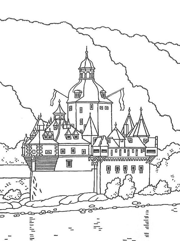 Pfalzgrafenstein Castle Coloring Page Coloring Pages
