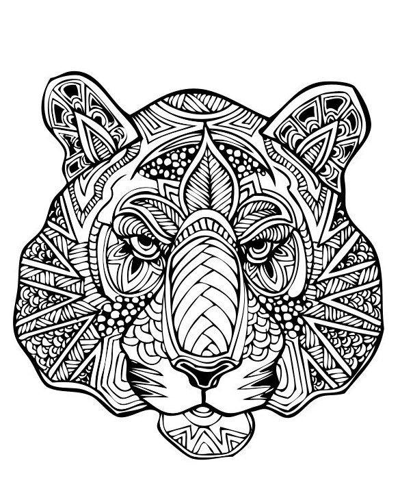 Раскраски для взрослых-антистресс. Животные | Раскраски ...