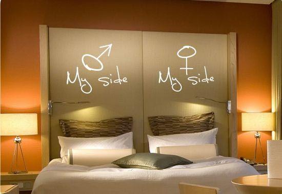 Schlafzimmer-Wand-Dekorations-Ideen Pinterest Bedroom wall - schlafzimmer wand ideen