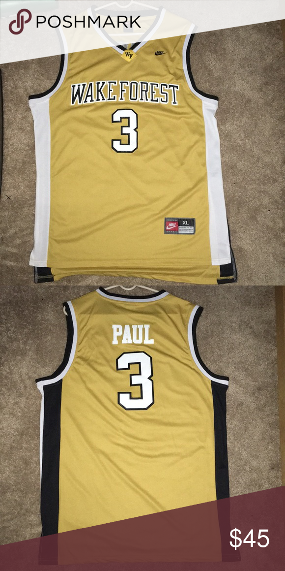the best attitude f7579 1b48f Chris Paul wake forest jersey Brand new size: XL Nike Shirts ...