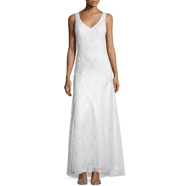 Sue Wong Sleeveless Embellished Mermaid Gown ($410) ❤ liked on ...