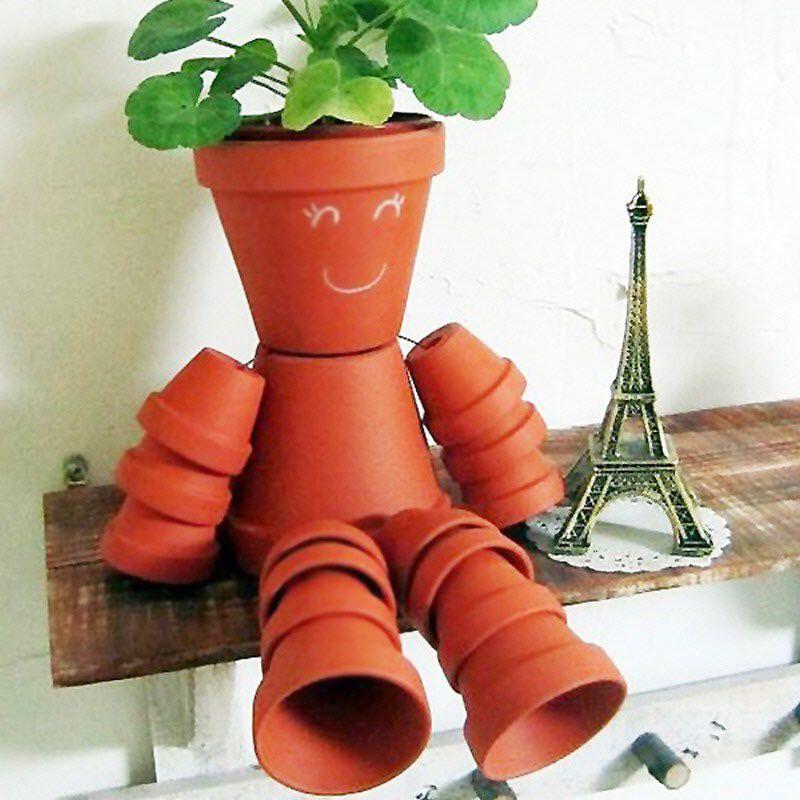 bonhomme en pots de fleur activt s avec les enfants. Black Bedroom Furniture Sets. Home Design Ideas