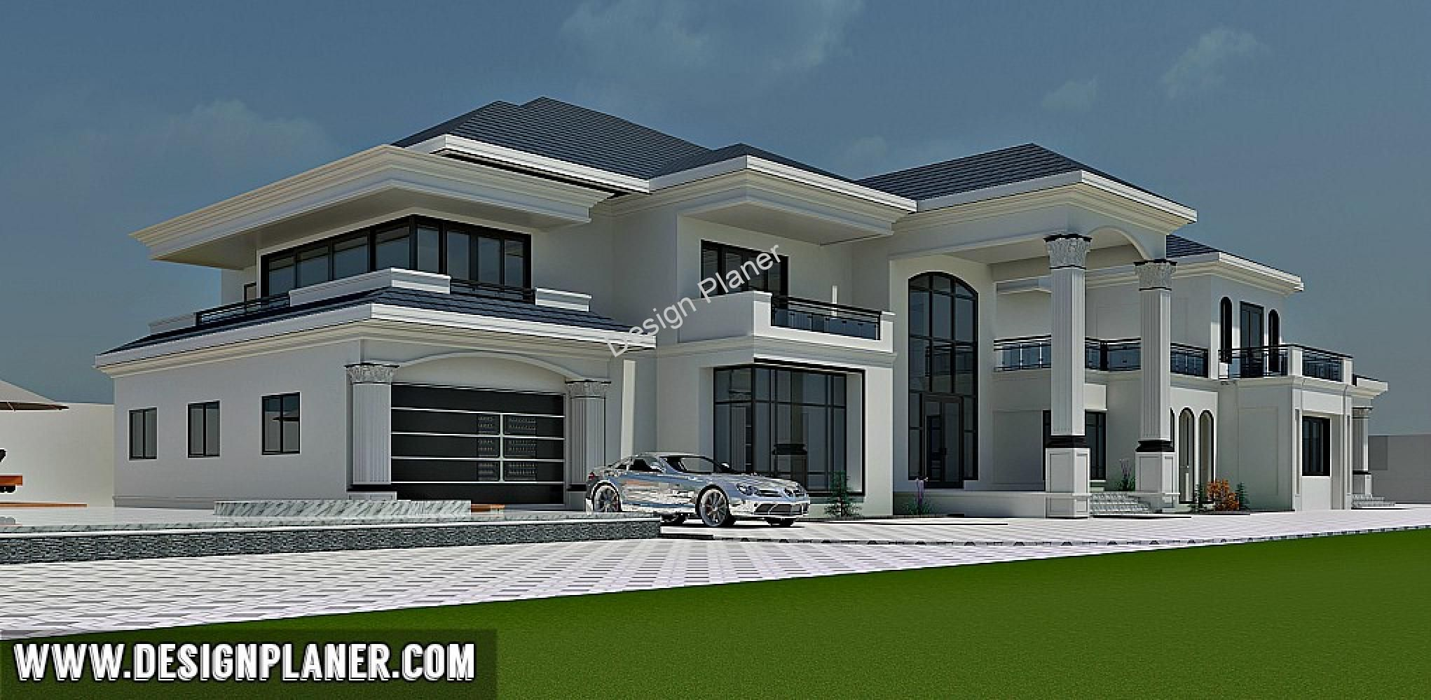 6 Bedroom Royal Palace Duplex House Design House Plan Gallery Bungalow House Design