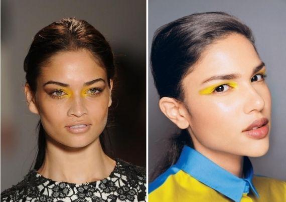 As morenas latinas podem apostar no amarelo forte nos olhos, mesmo que seja um leve delineado. Mas nada de amarelo apagadinho! Fotos: reprod...