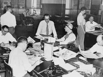 Richmond Times-Dispatch newsroom, circa 1930s | Journalists