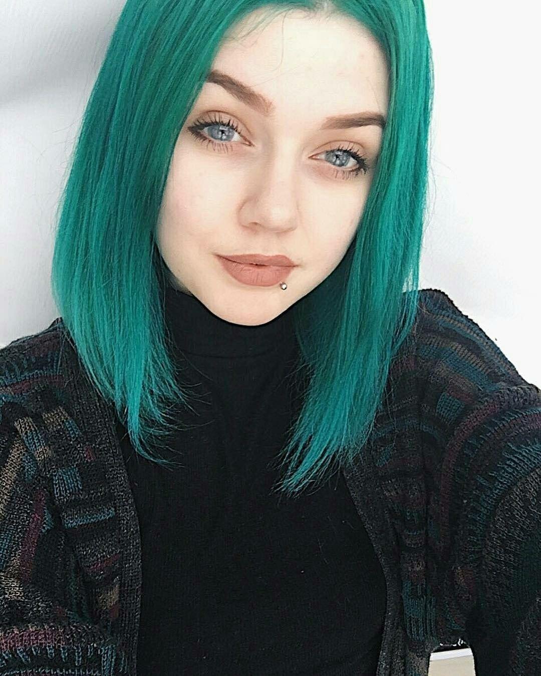 Teal hair ♡ Dye my hair, Cool hair color, Green hair