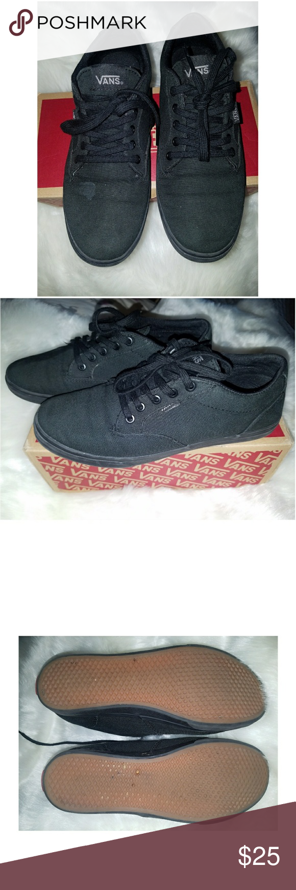 62f5435ff0 Vans size 7 women Vans Winston in black   has a small stain in front on the  right side shoe Vans Shoes Sneakers