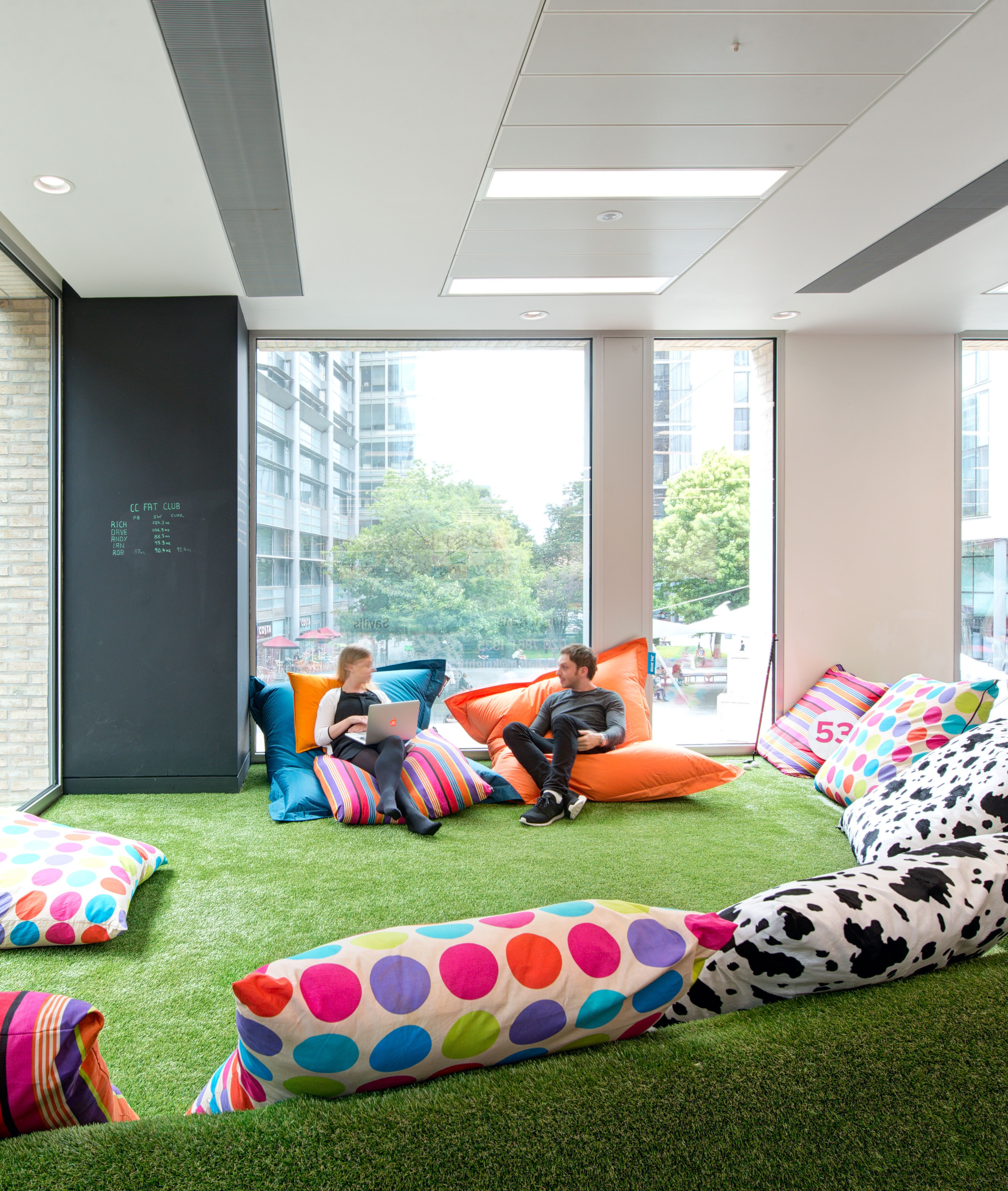 Would Lounge Style Sofa Areas Blackboard Walls Hammock Chairs Video Games And An Artificial Grass Covered Innovative Office New Home Designs Office Fit Out
