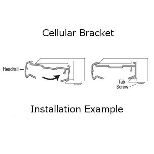 Honeycomb Cellular Shade Mounting Bracket Installation