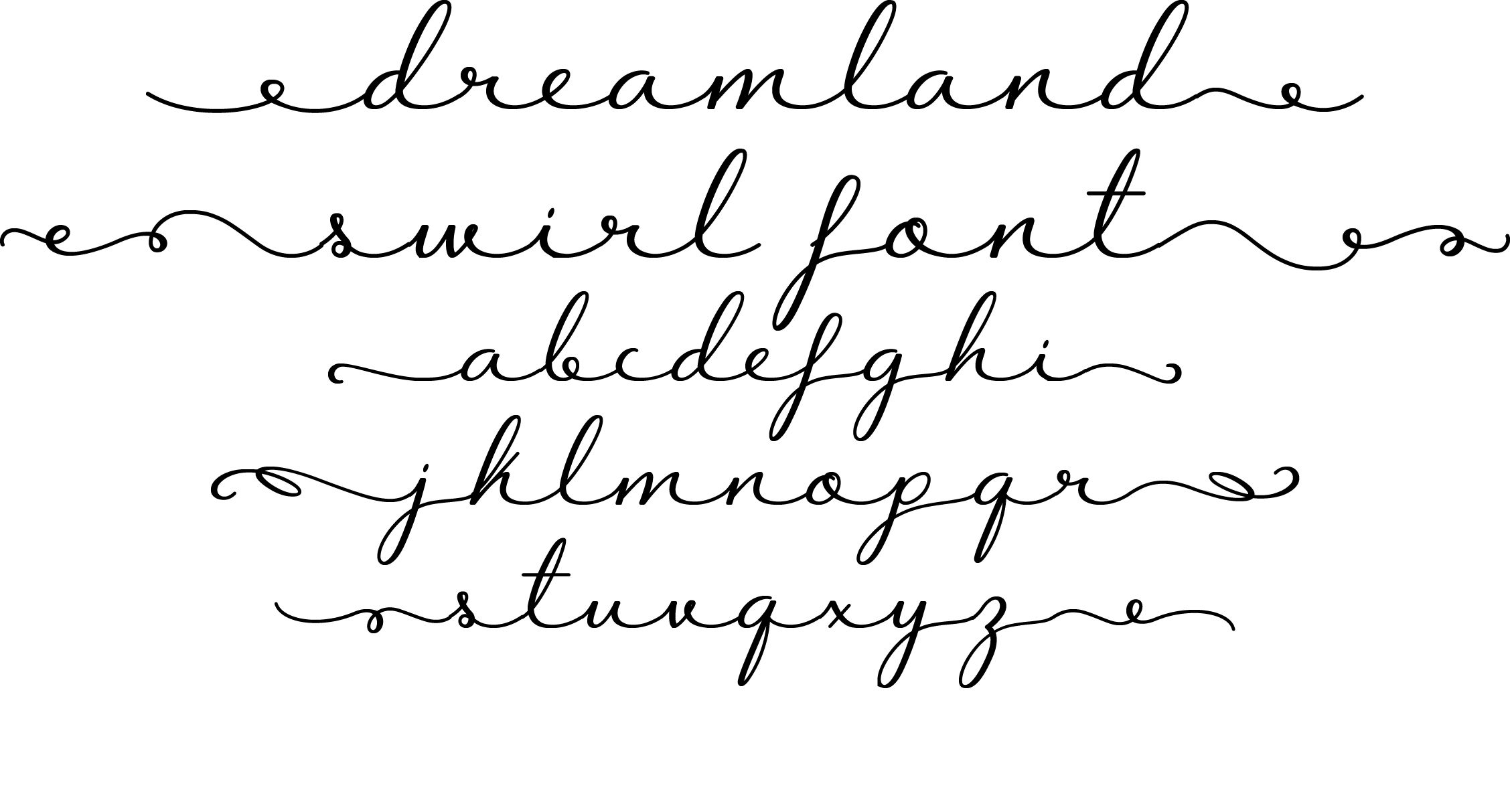 Cursive Fonts With Long Tails