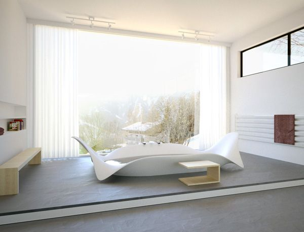 Prototype Ocean Wave Bathtub Sculpture By Manuel Dreesmann For