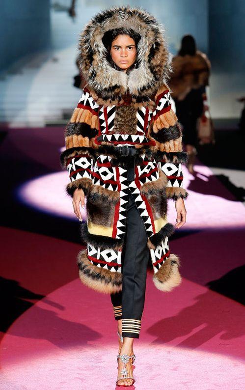 Les fourrures inuits du défilé Dsquared² | Style branché ...