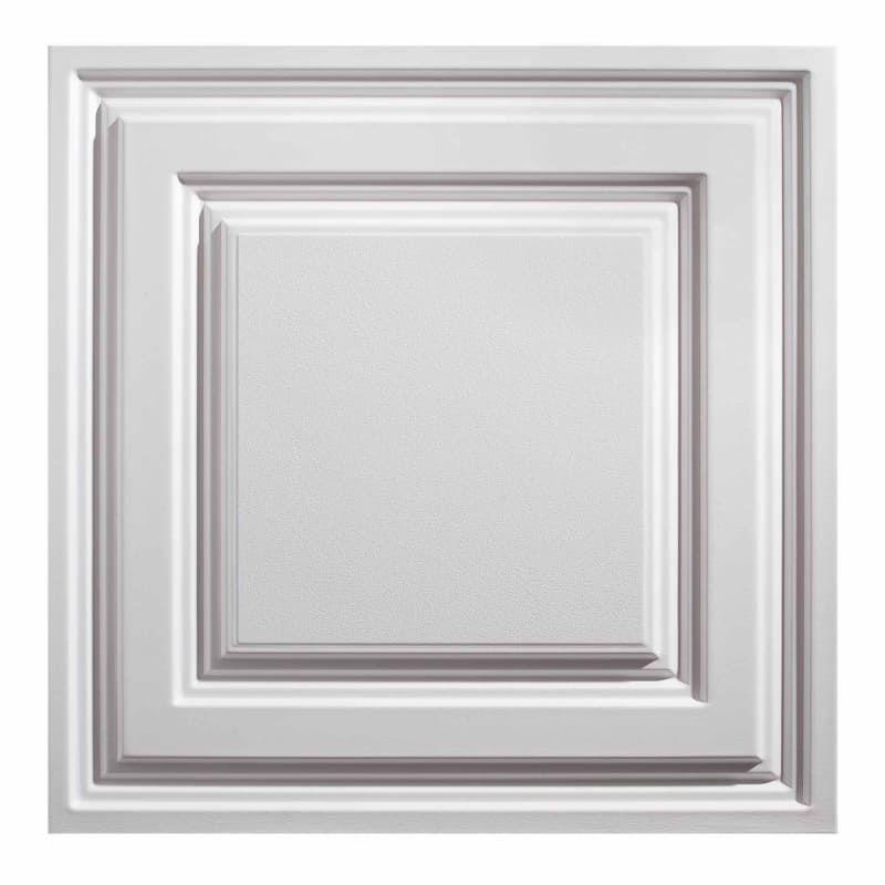 Acp 731 95 White Genesis Vinyl Lay In Ceiling Tile Sample Ceiling Tiles Ceiling Panels Tin Ceiling Tiles