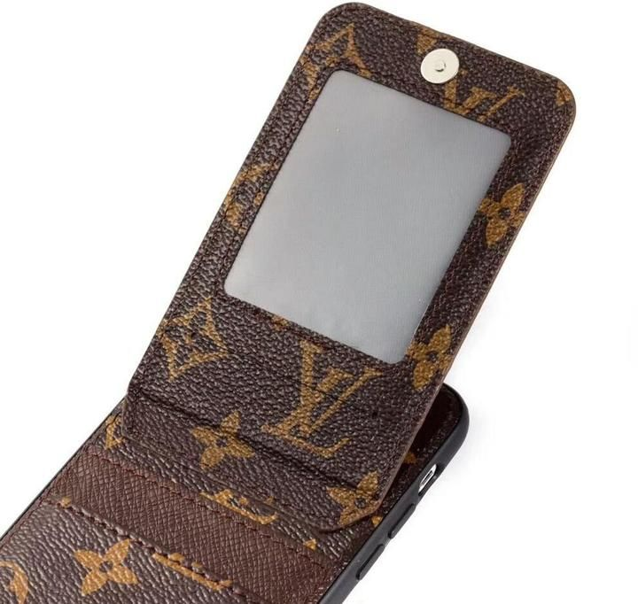 Lv inspired phone case with builtin card holder in 2020