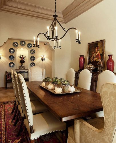 Ann James Interior Design Spanish Residence Farmhouse Style Dining Room Dining Room Decor Traditional Spanish Dining Room