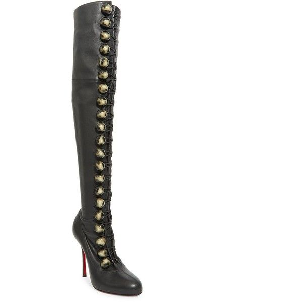 43bfc27d062f Christian Louboutin Fabiola 100 Leather Thigh High Boots ( 2