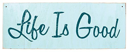 Weathered Nautical Aqua Life Is Good Tropical Sign Distressed Wall Décor Plaque 30x11 Owi Http