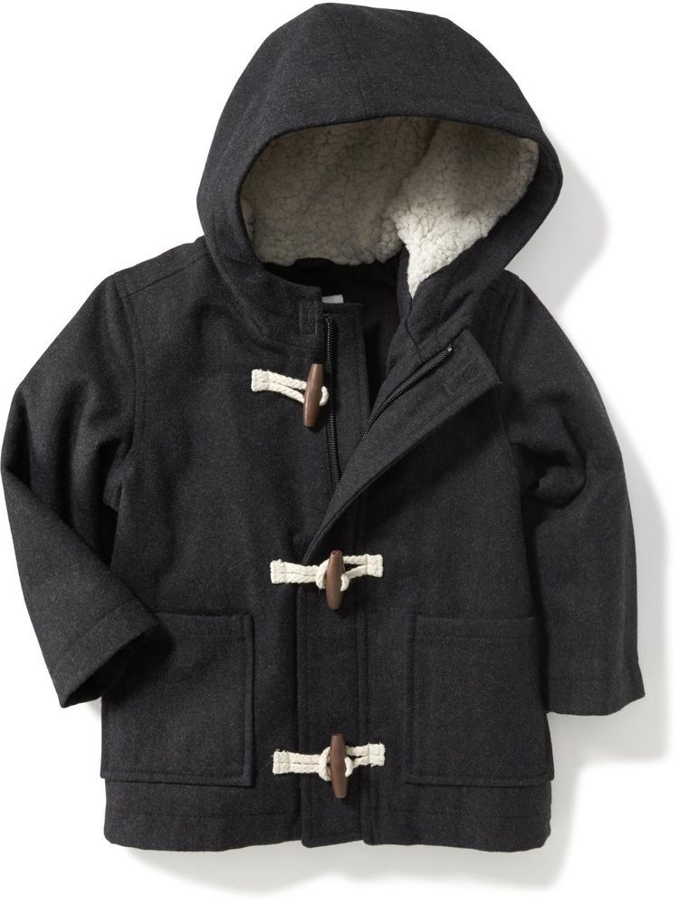 d69edf1a6 Old Navy Baby Boys Coat size 18-24 M- 2T Wool-Blend Toggle