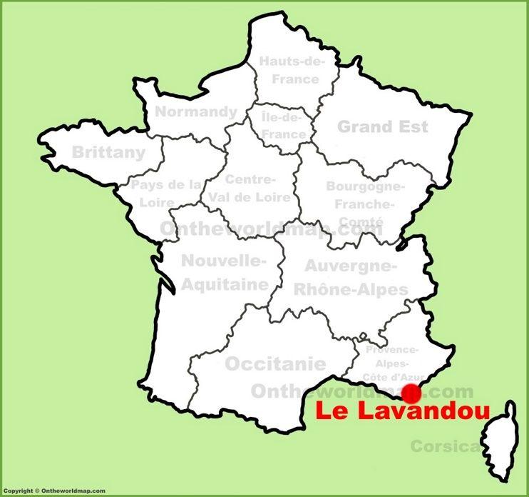 Le Lavandou location on the France map Maps Pinterest France