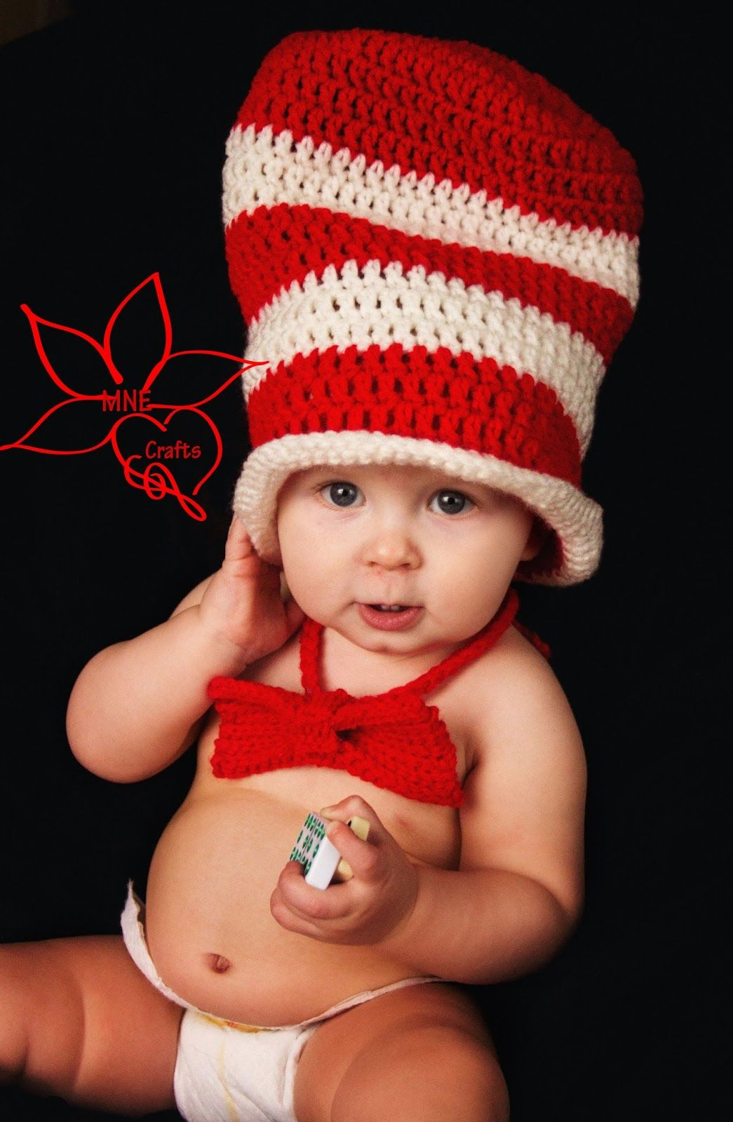 Mne crafts cat in the hat hat bow tie set blogger crochet seuss cat in the hat hat bow tie pattern by manda nicole for baby adult sizes bankloansurffo Gallery